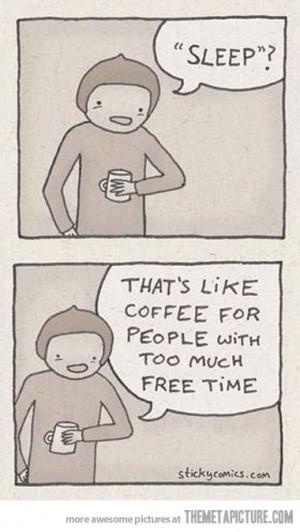 funny coffee sleep quote