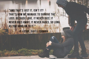 Quotes From If I Stay About Love ~ If I Stay on Pinterest | 36 Pins