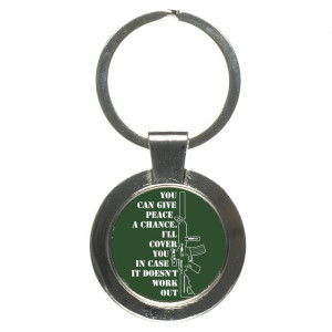 Funny Gun Rights Quotes Keychain