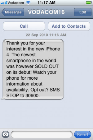 iPhone 4: MTN is cheaper, Vodacom already sold out