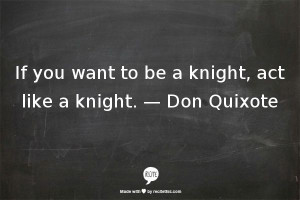 Don Quixote was one of the best stories I read in all my lit classes ...