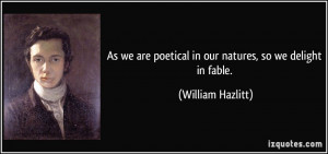More William Hazlitt Quotes