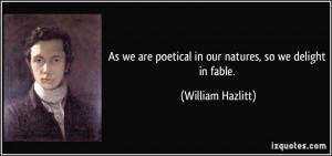 More William Hazlitt Quotes