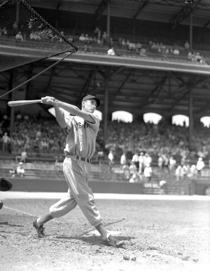 Ted Williams, Boston Red Sox Batting George Burke Original Negative