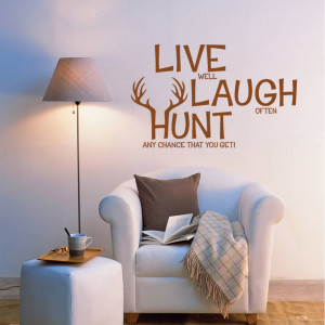 live laugh hunt wall decals hunting wall decor pvc stickers quotes ...
