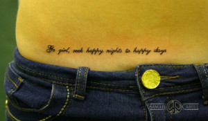 Good Quotes Tattoo on Shoulder Design for Boys