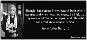 More John Forbes Nash, Jr. Quotes