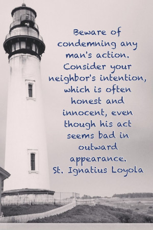 St. Ignatius Loyola Quote