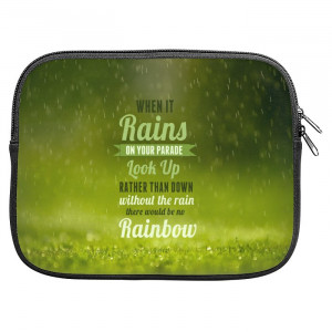 Rains Rainbow Quotes Zipper Pouch