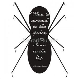 Kieran Rundle › Portfolio › Morticia Addams Spider Quote
