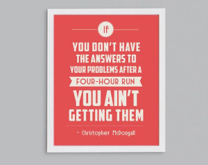 ... Marathon Training Inspirational Exercise Quote - 8x10. $15.00, via
