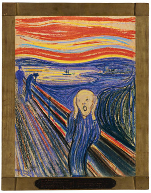 "Edvard Munch's 1895 version of ""The Scream""— which became the ..."