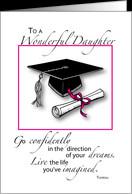 Daughter, Graduation, Cap and Diploma card - Product #566045
