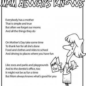 Mother s Day Kids Poems {free printable}