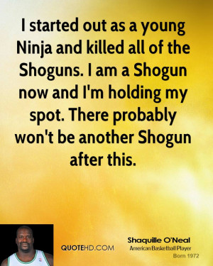 started out as a young Ninja and killed all of the Shoguns. I am a ...