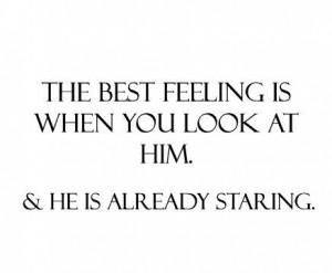 best feeling, him, love