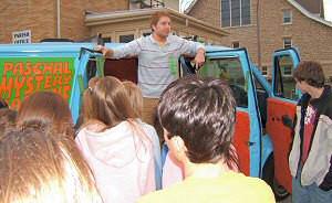 photo of youth at St. John the Baptist Parish, Howard, looking at the ...