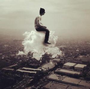 Taking a ride on air cloud.