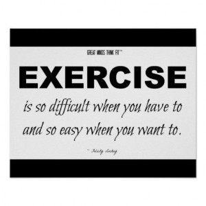 Black and White Exercise Quote for Motivation
