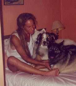 ... bonded with Caroline Knapp, above, over a shared love of dogs
