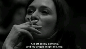stopped killing my inner demons - we're on the same side now