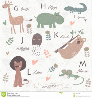Cute Zoo Animal Photos Zoo alphabet with cute animals
