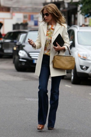 Trinny Woodall: Pears Shape, Wedges Heels, Cut Jeans, White Jackets ...