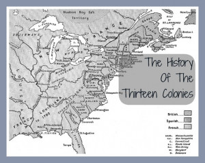 The History Thirteen Colonies