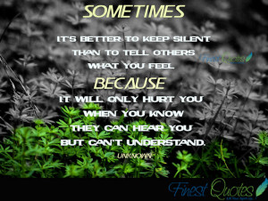 Keep Silent Quotes