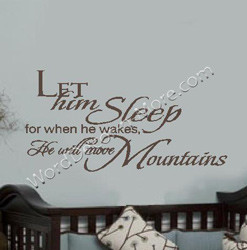 ... .comLet Him Sleep, Nursery Wall Quote | Removable Vinyl Wall Word Art