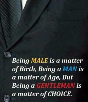Male, Man, and Gentleman