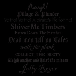 Pirate Phrases Subway Art Wall Quotes™ Decal