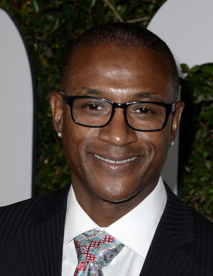 Tommy Davidson Actor Comedian Tommy Davidson arrives for the premiere
