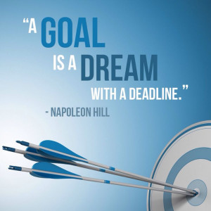 goal is a dream with a deadline. – Napoleon Hill