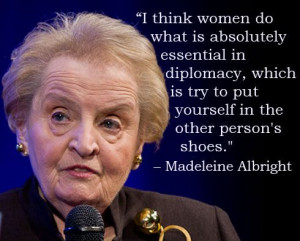 Madeleine Albright. First woman to be appointed as Secretary of State ...