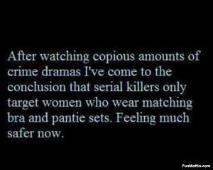 Crime dramas funny quotes