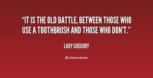 It is the old battle, between those who use a toothbrush and those who ...