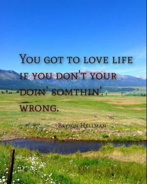 Country life style quote