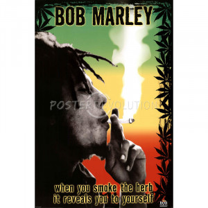 Bob Marley Smoke the Herb Quote Music Poster Print - 24x36