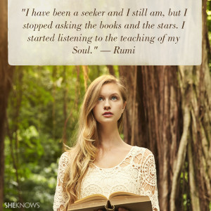 have been a seeker and I still am, but I stopped asking the books ...