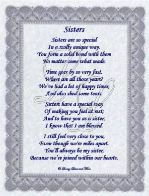 Sister Poems | Sisters Who Have Moved Away Poem
