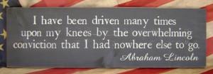 Abraham Lincoln's strong faith in God