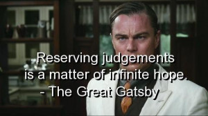 The great gatsby quotes and sayings meaningful best judgements