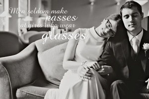Wearing Glasses On Your Wedding Day...