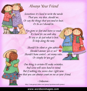 Free friendship poems and quotes
