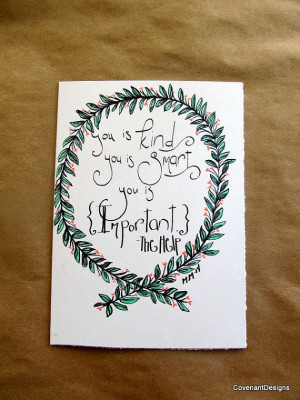 The Help inspired art Book quote handmade by CovenantDesigns, $15.00