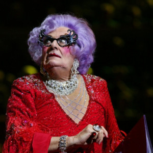 Barry Humphries as Dame Edna Everage performs at the Last Night of the ...