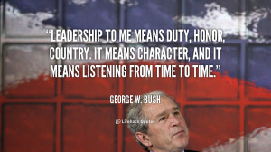 George W Bush Quotes