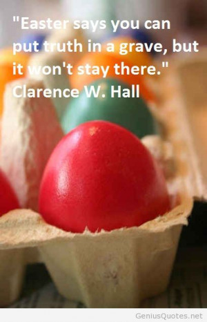 Easter egg image with quote