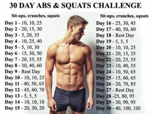 30 Day Abs & Squats Challenge - Healthy Fitness Body Sixpack Leg